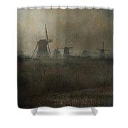 Windmills Shower Curtain by Joana Kruse