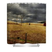 Winter Begins Shower Curtain by Lois Bryan