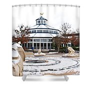 Winter In Coolidge Park Shower Curtain by Tom and Pat Cory