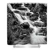 Winter Rapids Shower Curtain by Adrian Evans