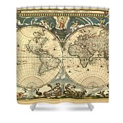 World Map Shower Curtain by Gary Grayson