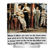 Wwii: Us Poster, 1942 Shower Curtain by Granger