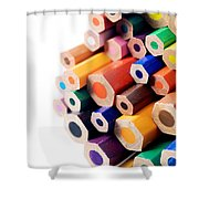 Crayons Shower Curtain by Chevy Fleet