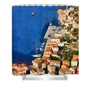 Kastellorizo Island Shower Curtain by George Atsametakis