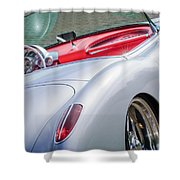 1960 Chevrolet Corvette Shower Curtain by Jill Reger