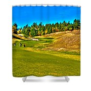 #12 At Chambers Bay Golf Course - Location Of The 2015 U.s. Open Championship Shower Curtain by David Patterson