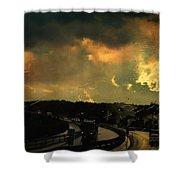 12 Days Of Rain Shower Curtain by Taylan Apukovska