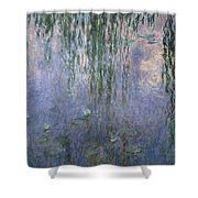 Water Lilies Shower Curtain by Claude Monet