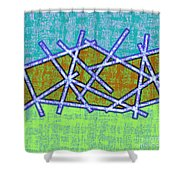 1455 Abstract Thought Shower Curtain by Chowdary V Arikatla