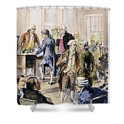 Declaration Of Independence Shower Curtain by Granger
