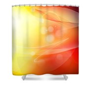 Abstract background. Shower Curtain by Les Cunliffe