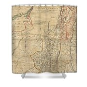 1768 Holland  Jeffreys Map Of New York And New Jersey  Shower Curtain by Paul Fearn