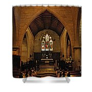 1865 - St. Jude's Church  - Interior Shower Curtain by Kaye Menner
