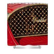 1904 Franklin Open Four Seater Grille Emblem Shower Curtain by Jill Reger