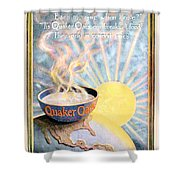 1906 - Quaker Oats Cereal Advertisement - Color Shower Curtain by John Madison
