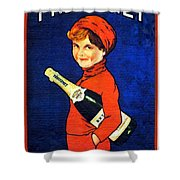 1920 - Freixenet Wines - Advertisement Poster - Color Shower Curtain by John Madison