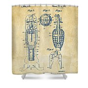 1921 Explosive Missle Patent Vintage Shower Curtain by Nikki Marie Smith