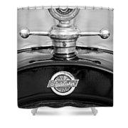 1922 Studebaker Touring Hood Ornament 3 Shower Curtain by Jill Reger