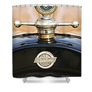 1922 Studebaker Touring Hood Ornament Shower Curtain by Jill Reger
