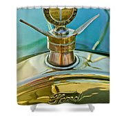 1923 Ford Model T Hood Ornament Shower Curtain by Jill Reger