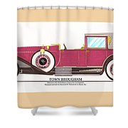 1923 Rolls Royce By Raymond H Dietrich Shower Curtain by Jack Pumphrey