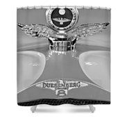 1926 Duesenberg Model A Boyce Motometer 2 Shower Curtain by Jill Reger
