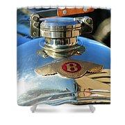 1927 Bentley Hood Ornament Shower Curtain by Jill Reger