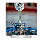 1928 Nash Coupe Hood Ornament 2 Shower Curtain by Jill Reger