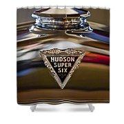 1929 Hudson Cabriolet Hood Ornament Shower Curtain by Jill Reger