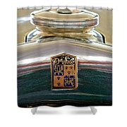 1930 Desoto K Hood Ornament Emblem Shower Curtain by Jill Reger
