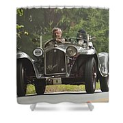 1933 Alfa Romeo 8c Corto Touring Spyder Shower Curtain by Jill Reger