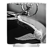 1933 Pontiac Hood Ornament 4 Shower Curtain by Jill Reger