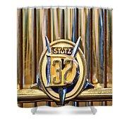 1933 Stutz Dv-32 Five Passenger Sedan Emblem Shower Curtain by Jill Reger