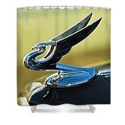 1935 Chevrolet Sedan Hood Ornament 2 Shower Curtain by Jill Reger