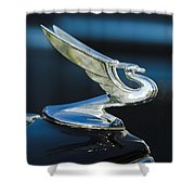 1935 Chevrolet Sedan Hood Ornament Shower Curtain by Jill Reger