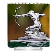 1935 Pierce-arrow 845 Coupe Hood Ornament Shower Curtain by Jill Reger