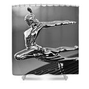 1935 Pontiac Sedan Hood Ornament 4 Shower Curtain by Jill Reger