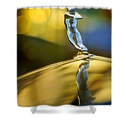 1936 Cadillac Hood Ornament Shower Curtain by Jill Reger
