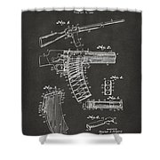 1937 Police Remington Model 8 Magazine Patent Artwork - Gray Shower Curtain by Nikki Marie Smith