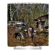 1937 Revisited Shower Curtain by Benanne Stiens