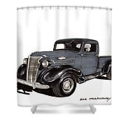 1938 Chevy Pickup Shower Curtain by Jack Pumphrey