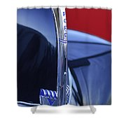 1940 Ford Hood Ornament 2 Shower Curtain by Jill Reger