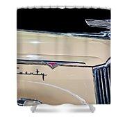 1941 Packard Hood Ornament Shower Curtain by Jill Reger