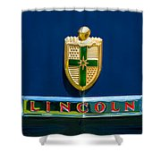 1942 Lincoln Continental Cabriolet Emblem Shower Curtain by Jill Reger