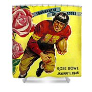 1946 Rose Bowl Program Shower Curtain by David Patterson