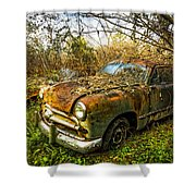 1949 Ford Shower Curtain by Debra and Dave Vanderlaan