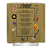 1950 Great Events Shower Curtain by Movie Poster Prints