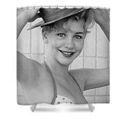 1950s Pinup Shower Curtain by Chuck Staley
