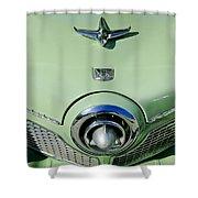 1951 Studebaker Commander Hood Ornament 2 Shower Curtain by Jill Reger