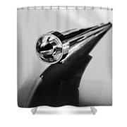 1951 Studebaker Pickup Truck Hood Ornament 2 Shower Curtain by Jill Reger
